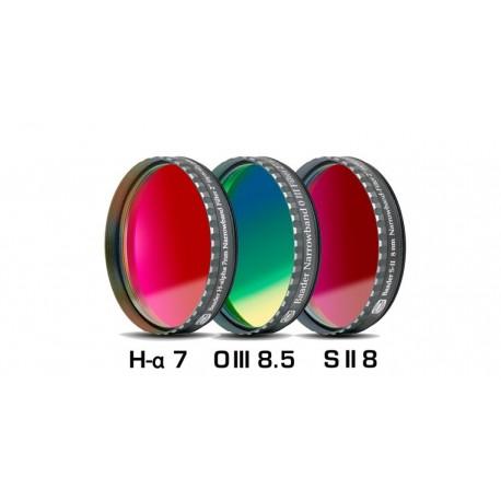 """Set 3 filtre CCD Baader 2"""" pentru camere CCD full-frame (2mm grosime, H-alpha 7nm, O-III 8,5nm, S II 8nm)"""