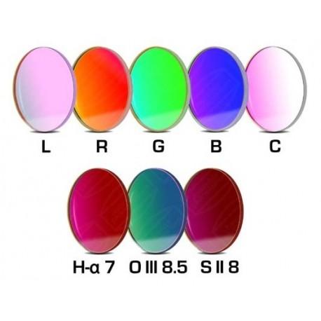Set filtre CCD Baader 36mm rotund (H-alpha 7nm, O-III 8,5nm, S II 8nm 2 mm grosime și 5 filtre LRGBC)