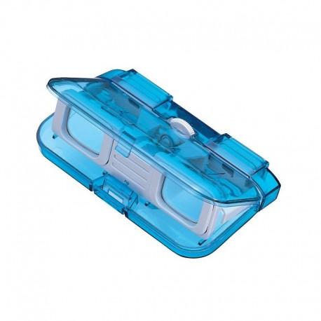 Binoclu opera Vixen 3x28 albastru translucid