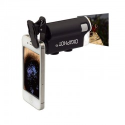 Microscop de buzunar DIGIPHOT PM-6001, clips pentru smartphone, 60X-100X