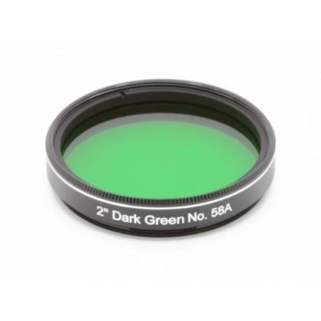 "Filtru EXPLORE SCIENTIFIC verde inchis 2"" No.58A"