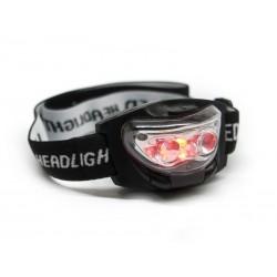 Lanterna frontala cu lumina LED alba si rosie