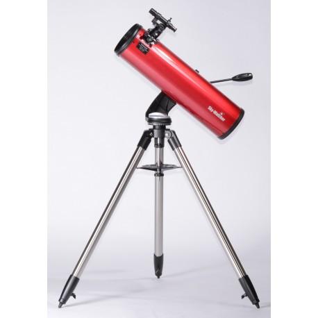 """Telescop SkyWatcher Newton 150/750, pe montura AZ4 cu picioare din otel si focuser 1.25"""", culoare rosie"""