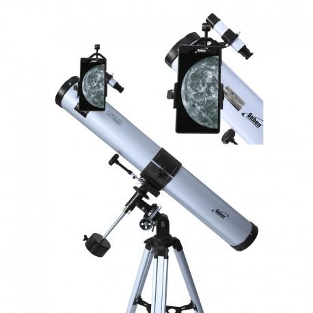 Telescop Seben N 76/900 EQ-2 cu adaptor pentru smartphone