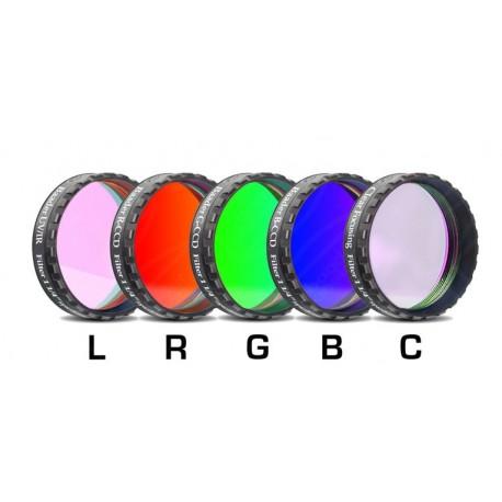 "Set filtre LRGBC-CCD Baader 1,25"" (2mm grosime, 5 filtre)"