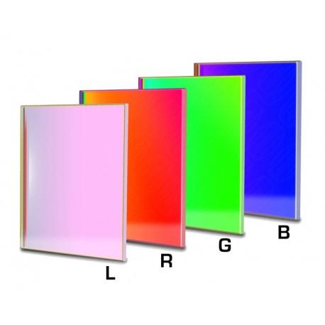 Set filtre LRGB-CCD Baader 50X50mm pătrat (3mm grosime, 4 filtre)
