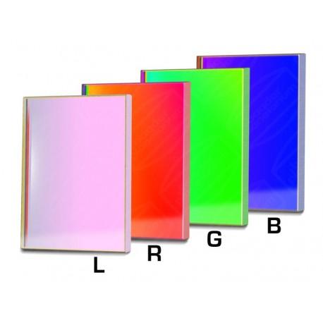 Set filtre LRGB-CCD Baader 65X65mm pătrat (3mm grosime, 4 filtre)