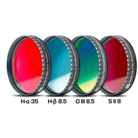 """Set 4 filtre Baader 2"""" pentru camere foto CCD interlineare (H-alpha 35nm, H-beta, O-III, S II)"""