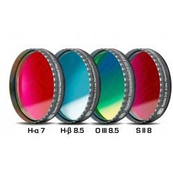 "Set 4 filtre Baader 2"" pentru camere foto CCD full-frame (H-alpha 7nm, H-beta, O-III, S II)"