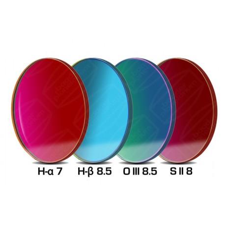 Set 4 filtre Baader pentru camere foto CCD full-frame 50,4mm (H-alpha 7nm, O-III, S II) și un filtru H-beta 50,8mm