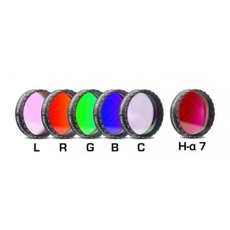 "Set complet de filtre CCD Baader 1,25"" (un filtru H-alpha 7nm, 2 mm grosime și 5 filtre LRGBC)"
