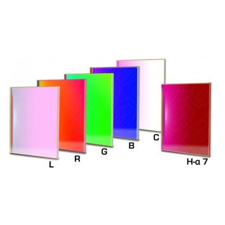 Set complet de filtre CCD Baader 65x65mm pătrat (un filtru H-alpha 7nm, 3 mm grosime și 5 filtre LRGBC)