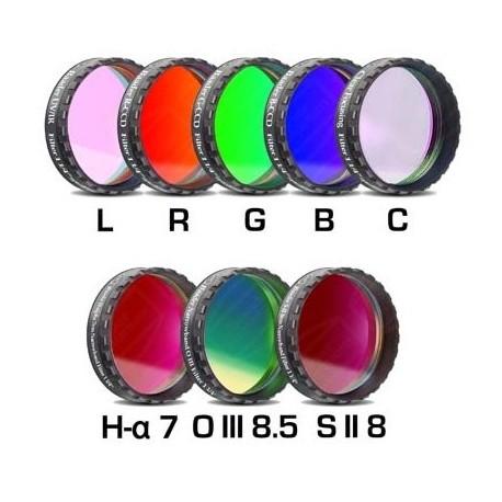 """Set filtre CCD Baader 1,25"""" (H-alpha 7nm, O-III 8,5nm, S II 8nm 2 mm grosime și 5 filtre LRGBC)"""