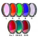 """Set filtre CCD Baader 2"""" (H-alpha 7nm, O-III 8,5nm, S II 8nm 2 mm grosime și 5 filtre LRGBC)"""