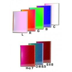 Set filtre CCD Baader 50X50mm pătrat (H-alpha 7nm, O-III 8,5nm, S II 8nm 3 mm grosime și 5 filtre LRGBC)