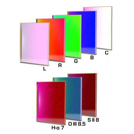 Set filtre CCD Baader 65x65mm pătrat (H-alpha 7nm, O-III 8,5nm, S II 8nm 3 mm grosime și 5 filtre LRGBC))