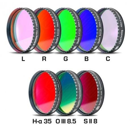 """Set filtre CCD Baader 2"""" (H-alpha 35nm, O-III 8,5nm, S II 8nm 2 mm grosime și 5 filtre LRGBC)"""