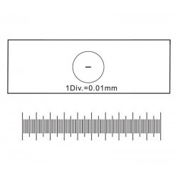Lama calibrată pentru măsurători cu precizie de 0,01mm