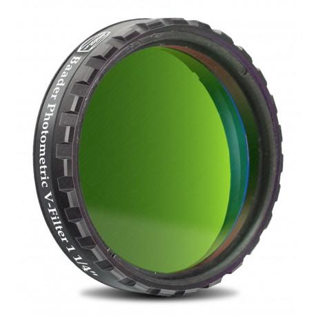 "Filtru fotometric UBVRI Baader V 1,25"" (4mm grosime)"