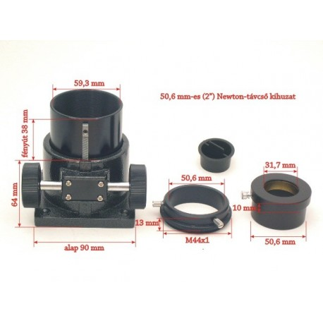 """Focuser 2"""" Rack and Pinion pentru telescoape Newton"""