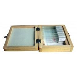 Set preparate 20 de bucati in cutie de lemn