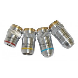 Obiectiv plan pentru microscop (100x, 160mm)