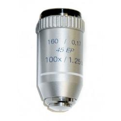 Obiectiv semiplan pentru microscop (100x, 160mm)