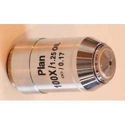 Obiectiv plan 100x cu imersie în apă, pentru microscoape Lacerta seria Infinity